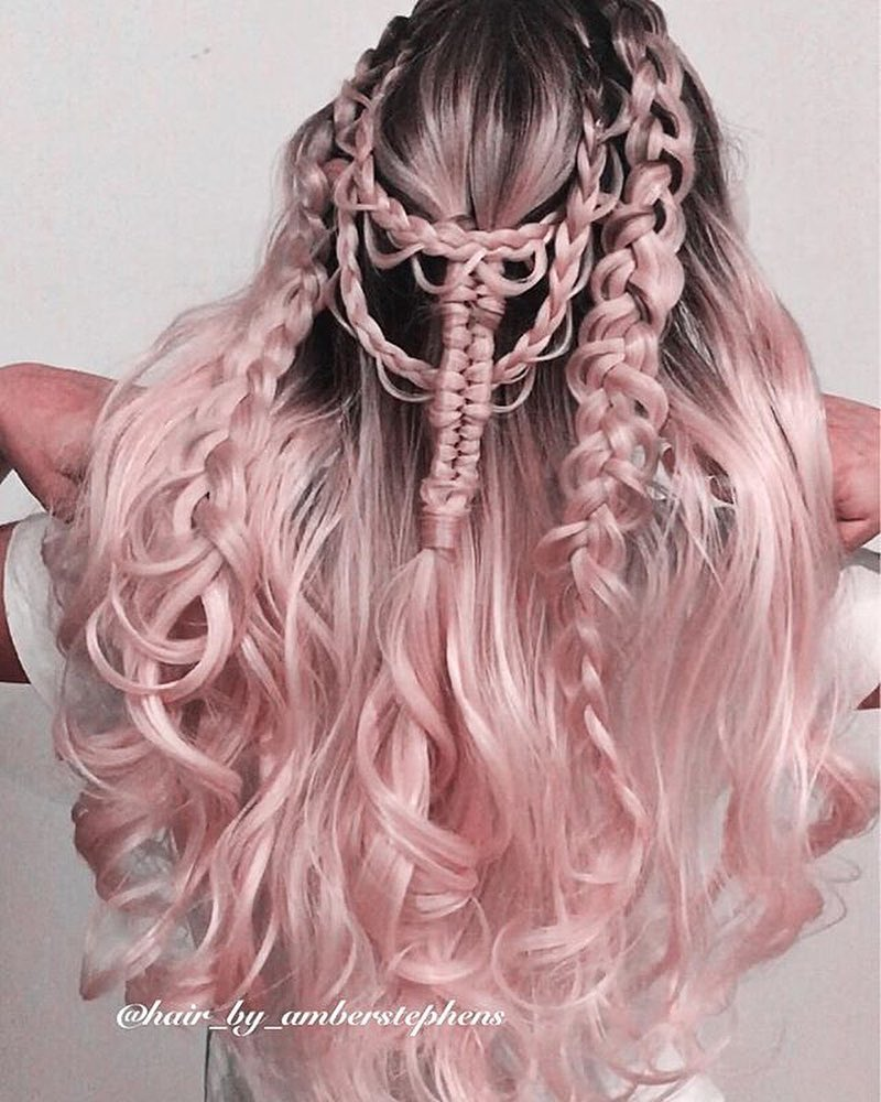 Pastel Pink Hair Ombre Hair Color