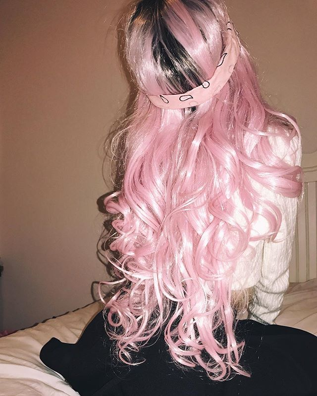 Ombre Pink Wigs Ombre Hair Color
